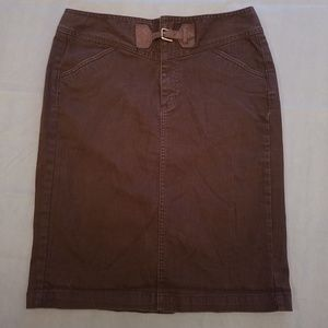 Ralph Lauren Jeans Co. Brown Pencil Skirt Size 6